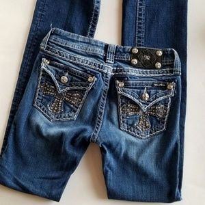 Miss Me Straight Jeans Girls Size 14